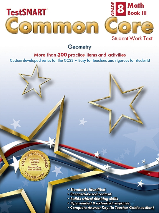 Common Core Student Work Texts Math Book III Gr 8