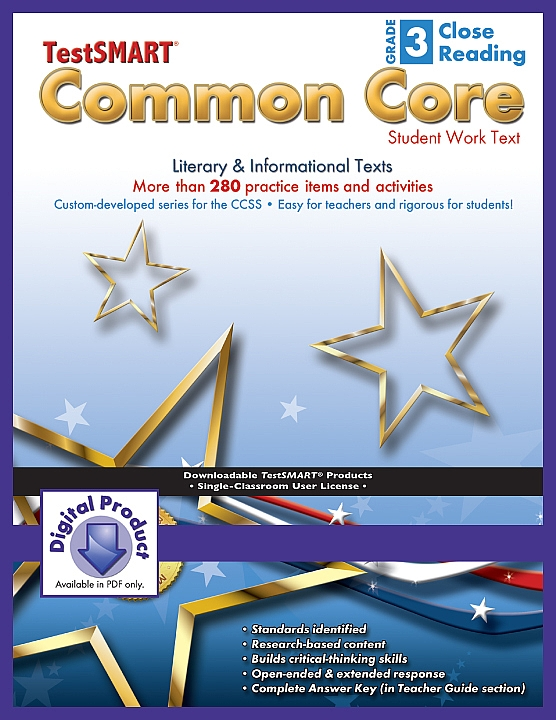 Common Core Student Work Texts (ebook version, PDF) Close  Reading Gr 3