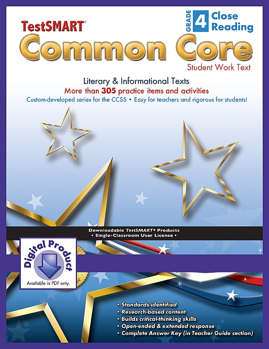 Common Core Student Work Texts (ebook version, PDF) Close  Reading Gr 4