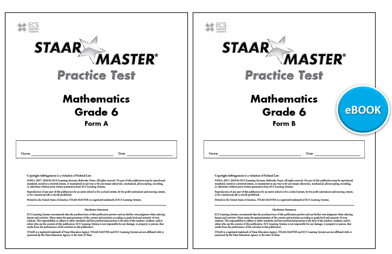 STAAR MASTER® Interactive Practice Tests Math Gr 6   ECS ...