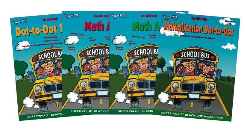 BH0008PS - Fun With Math Set of 4 Books Gr 1-4
