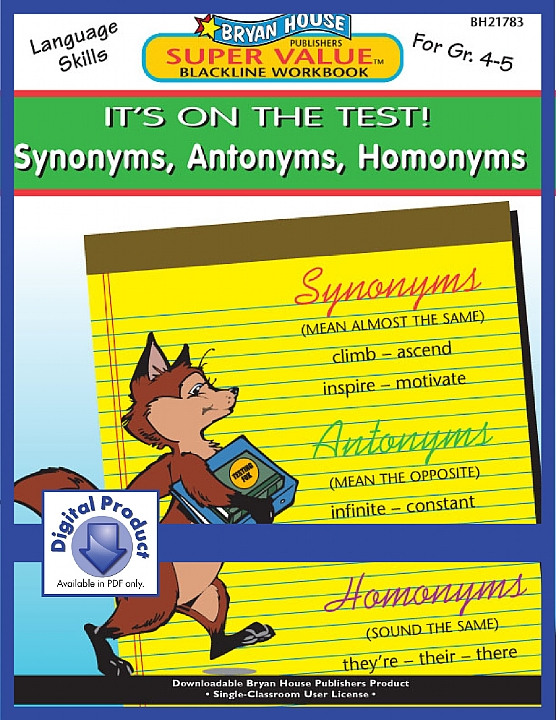 BH21783 - Synonyms, Antonyms, Homonyms (eBook version, PDF) GR 4-5