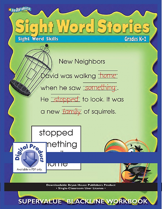 BH21851 - Sight Word Stories (eBook version, PDF) Gr k-2
