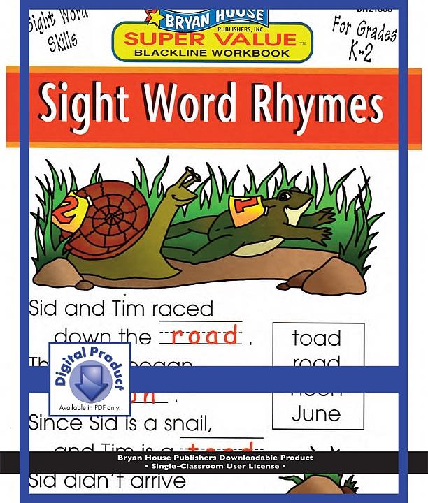 BH21868 - Sight Word Rhymes (eBook version, PDF) Gr K-2