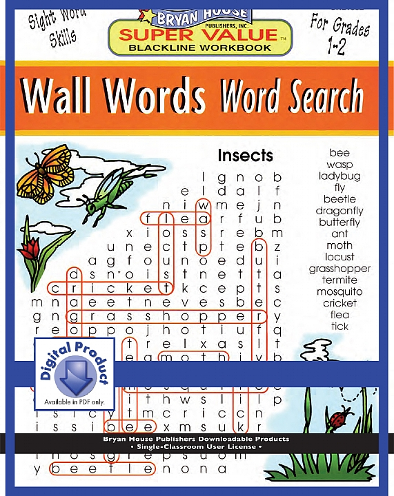BH21882 - Wall Words Word Search (eBook version, PDF) Gr 1-2