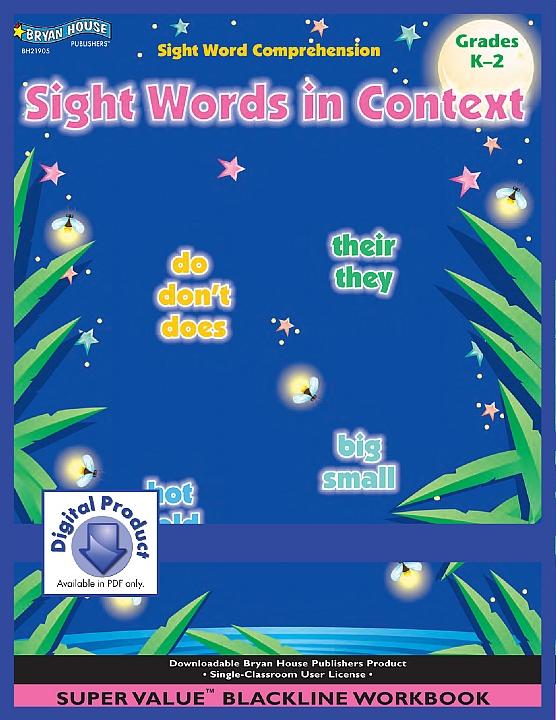 BH21905 - Sight Words in Context (eBook version, PDF) - Gr K-2