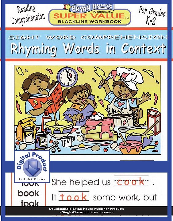 BH21912 - Rhyming Words in Context (eBook version, PDF) Gr K-2