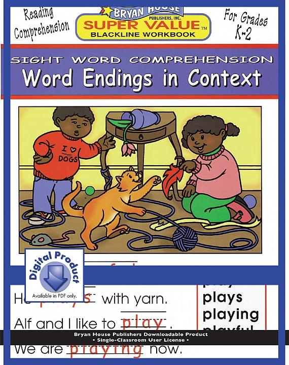 BH21929 - Word Endings in Context (eBook version, PDF) Gr K-2
