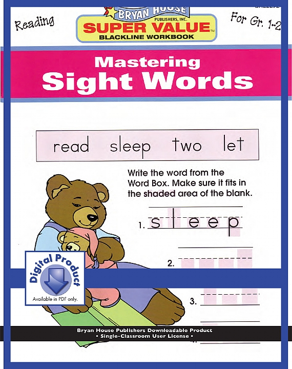 BH22292 - Mastering Sight Words Gr 1-2