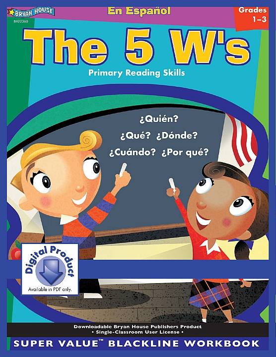 BH22360 - The 5 W's Spanish Version Gr 1-3