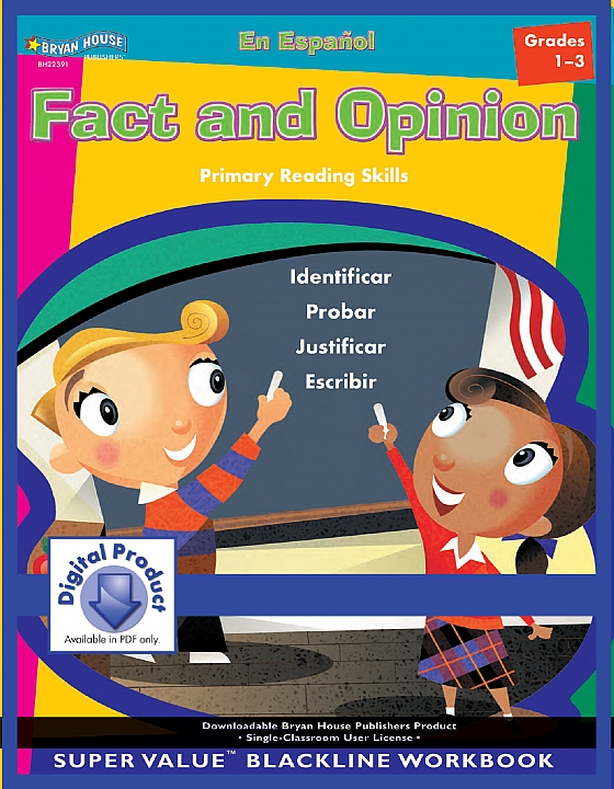 BH22391 - Fact and Opinion Spanish Version Gr 1-3