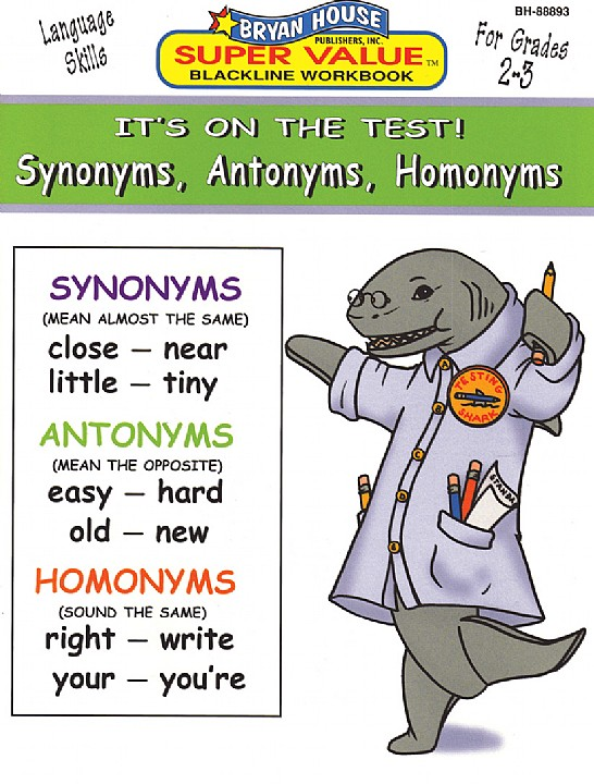 BH88893 - Synonyms, Antonyms, Homonyms Gr 2-3