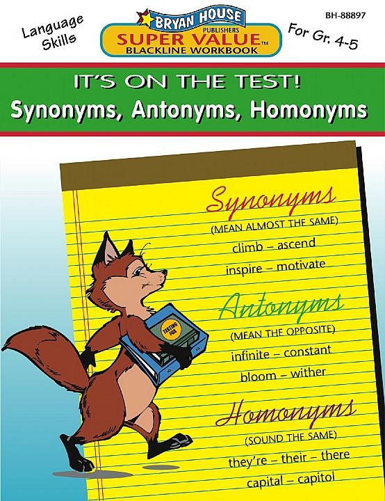 BH88897 - Synonyms, Antonyms, Homonyms Gr 4-5