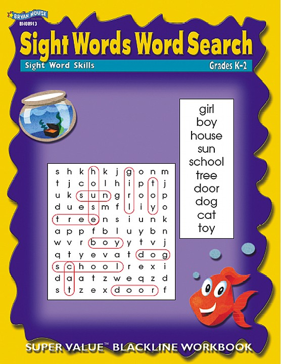 BH88913 - Sight Words Word Search Gr K –2