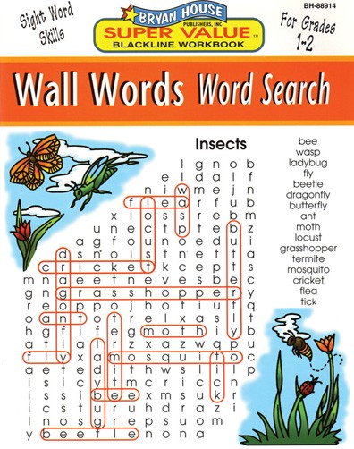 BH88914 - Wall Words Word Search Gr 1-2