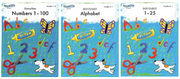 BH0017PS - Educational Dot-to-Dots Set of 3 Books Gr K-2
