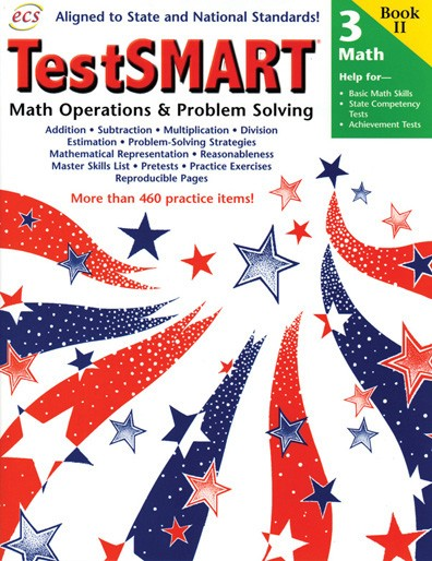 ECS241X - TestSMART Student Practice Books Math Operations and Problem Solving Gr 3