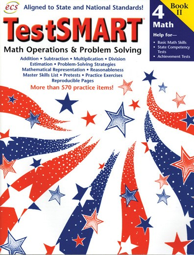 ECS2436 - TestSMART Student Practice Books Math Operations and Problem Solving Gr 4