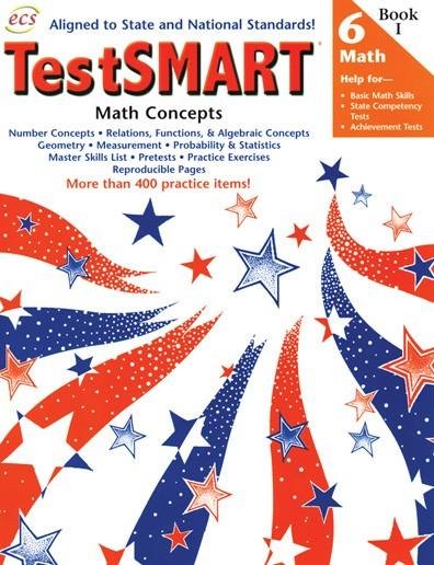 ECS2460 - TestSMART Student Practice Books Math Concepts Gr 6