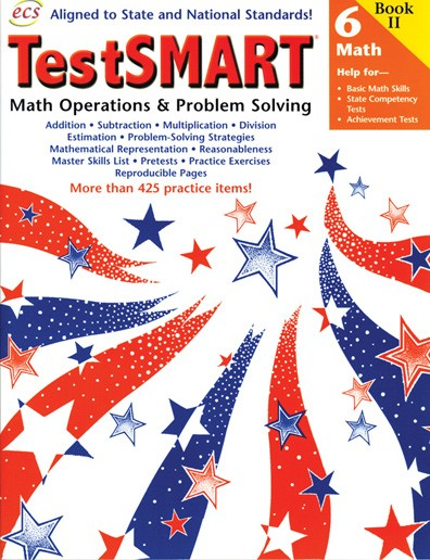 ECS2479 - TestSMART Student Practice Books Math Operations and Problem Solving Gr 6