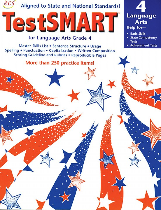 ECS3599 - TestSMART Student Practice Books Language Arts Gr 4
