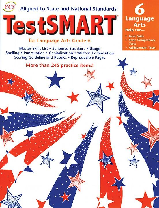 ECS3610 - TestSMART Student Practice Books Language Arts Gr 6