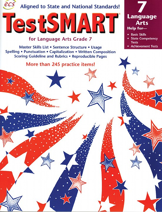 ECS3629 - TestSMART Student Practice Books Language Arts Gr 7