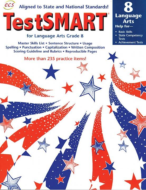 ECS3637 - TestSMART Student Practice Books Language Arts Gr 8
